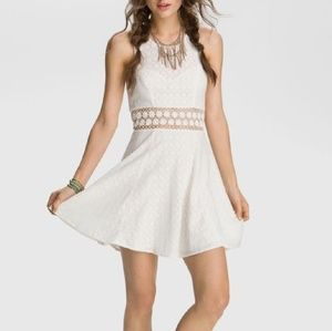 [Free People] Ivory Daisy Waist Dress Size 4